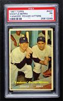 Yankees' Power Hitters (Mickey Mantle, Yogi Berra) [PSA1PR]