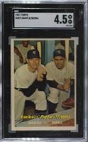 Yankees' Power Hitters (Mickey Mantle, Yogi Berra) [SGC55VG/EX+&nbs…