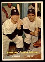 Yankees' Power Hitters (Mickey Mantle, Yogi Berra) [EX]
