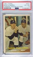 Yankees' Power Hitters (Mickey Mantle, Yogi Berra) [PSA 4 VG‑EX]