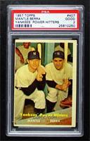 Yankees' Power Hitters (Mickey Mantle, Yogi Berra) [PSA2GOOD]