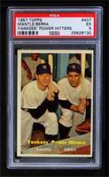 Yankees' Power Hitters (Mickey Mantle, Yogi Berra) [PSA5EX]