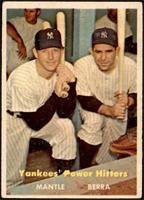 Yankees' Power Hitters (Mickey Mantle, Yogi Berra) [VG]