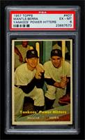 Yankees' Power Hitters (Mickey Mantle, Yogi Berra) [PSA 6 EX‑MT]