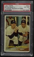 Yankees' Power Hitters (Mickey Mantle, Yogi Berra) [PSA6EX‑MT]