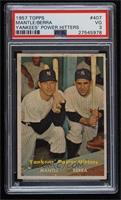 Yankees' Power Hitters (Mickey Mantle, Yogi Berra) [PSA3VG]