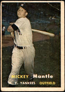 1957 Topps - [Base] #95 - Mickey Mantle [FAIR]
