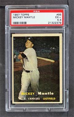 1957 Topps - [Base] #95 - Mickey Mantle [PSA5.5EX+]