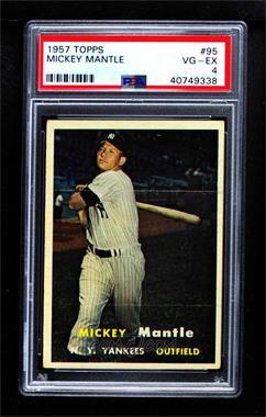 1957 Topps - [Base] #95 - Mickey Mantle [PSA4VG‑EX]