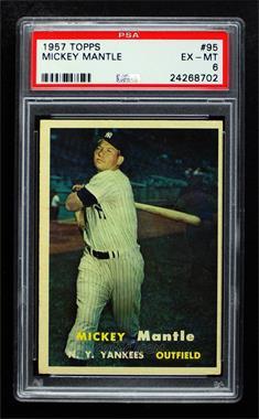 1957 Topps - [Base] #95 - Mickey Mantle [PSA6EX‑MT]