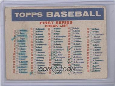 1957 Topps - Checklists #CHEC.1 - 1st/2nd Series Checklist (1-176) (Bazooka Back) [PoortoFair]
