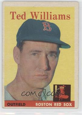 1958 Topps - [Base] #1 - Ted Williams [GoodtoVG‑EX]