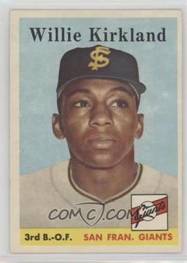 1958 Topps - [Base] #128 - Willie Kirkland [PoortoFair]