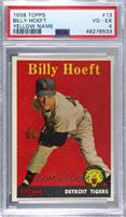 Billy Hoeft (player name in yellow, Red Triangle by Foot) [PSA4VG&#…