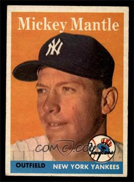 1958 Topps - [Base] #150 - Mickey Mantle [EX]