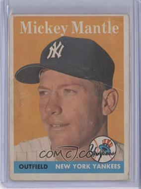 1958 Topps - [Base] #150 - Mickey Mantle [Good to VG‑EX]