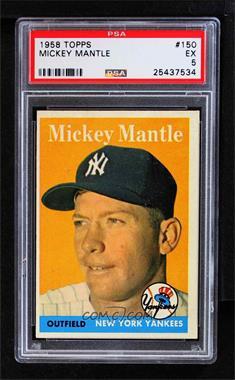 1958 Topps - [Base] #150 - Mickey Mantle [PSA5EX]