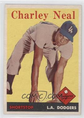 1958 Topps - [Base] #16 - Charlie Neal