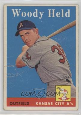 1958 Topps - [Base] #202 - Woodie Held [Poor]