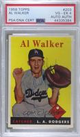 Rube Walker (Al on Card) [PSA/DNACertifiedEncased]