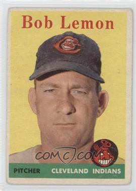 1958 Topps - [Base] #2.1 - Bob Lemon (White Team Name) [GoodtoVG‑EX]