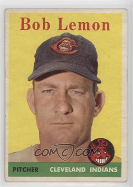 1958 Topps - [Base] #2.1 - Bob Lemon (White Team Name)