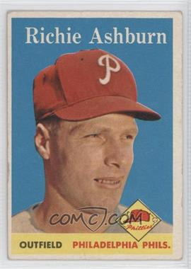 1958 Topps - [Base] #230 - Richie Ashburn [Good to VG‑EX]