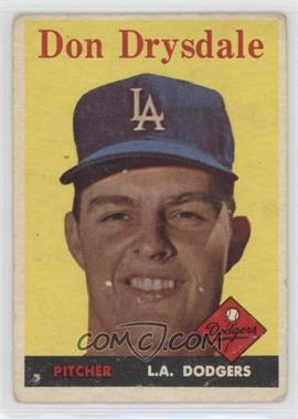1958 Topps - [Base] #25 - Don Drysdale [Poor to Fair]