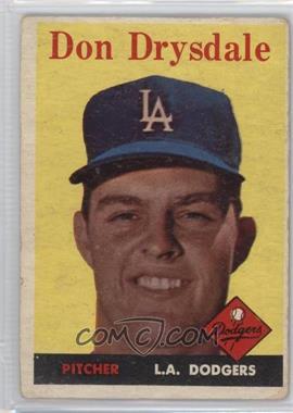 1958 Topps - [Base] #25 - Don Drysdale [PoortoFair]