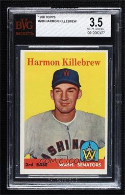 1958 Topps - [Base] #288 - Harmon Killebrew [BVG3.5VERYGOOD+]