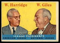 League Presidents (William Harridge, Warren Giles) [EX]
