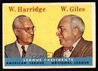 League Presidents (William Harridge, Warren Giles) [VGEX]