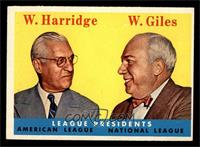 League Presidents (William Harridge, Warren Giles) [EX MT]