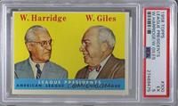 League Presidents (William Harridge, Warren Giles) [PSA 4 VG‑EX]