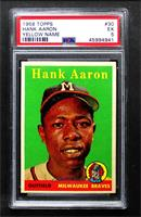 Hank Aaron (player name in white) [PSA 5 EX]