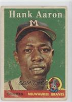 Hank Aaron (player name in white) [Poor to Fair]