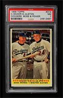 Dodgers' Boss & Power (Duke Snider, Walter Alston) [PSA7NM]