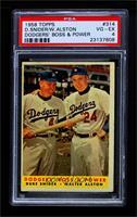 Dodgers' Boss & Power (Duke Snider, Walter Alston) [PSA4VG‑EX]