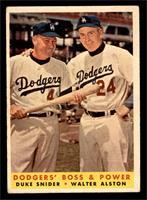 Dodgers' Boss & Power (Duke Snider, Walter Alston) [FAIR]