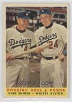 Dodgers' Boss & Power (Duke Snider, Walter Alston) [Poor]