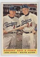 Dodgers' Boss & Power (Duke Snider, Walter Alston)