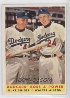 1958 Topps - [Base] #314 - Dodgers' Boss & Power (Duke Snider, Walter Alston)