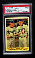 Dodgers' Boss & Power (Duke Snider, Walter Alston) [PSA 5 EX]