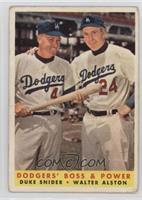 Dodgers' Boss & Power (Duke Snider, Walter Alston) [PoortoFair]