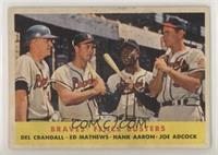 Braves' Fence Busters (Del Crandall, Eddie Mathews, Hank Aaron, Joe Adcock) [Po…