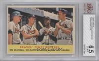 Braves' Fence Busters (Del Crandall, Eddie Mathews, Hank Aaron, Joe Adcock) [BV…