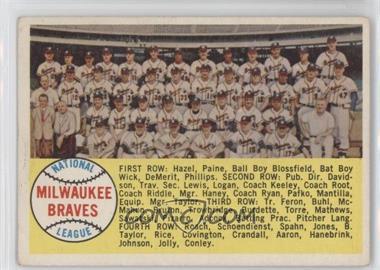 1958 Topps - [Base] #377.1 - Milwaukee Braves Team (Alphabetical Checklist)