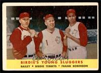 Ed Bailey, Birdie Tebbetts, Frank Robinson [GOOD]
