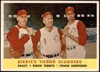 Ed Bailey, Birdie Tebbetts, Frank Robinson [EX+]