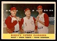 Ed Bailey, Birdie Tebbetts, Frank Robinson [GOOD]